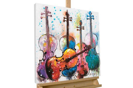 KUNSTLOFT Gemälde »Bubbly Scores«, handgemaltes Bild auf Leinwand