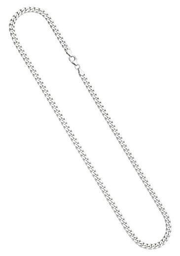 JOBO Silberkette, Panzerkette 925 Silber 50 cm 4,6 mm