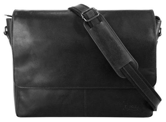 X-Zone Messenger Bag (1-tlg), vegetabil gegerbt