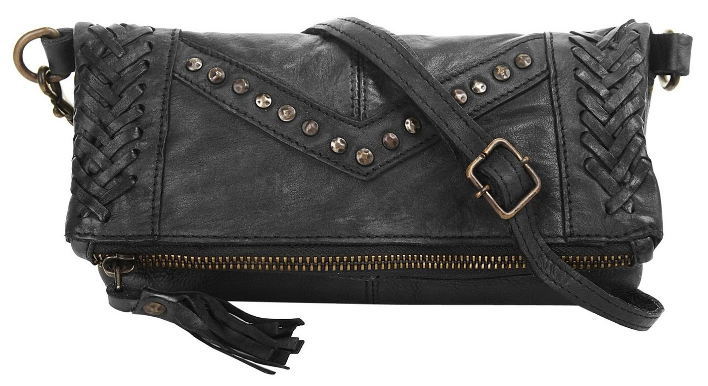 X-Zone Abendtasche | Taschen > Handtaschen > Abendtaschen | Schwarz | Leder | X-Zone