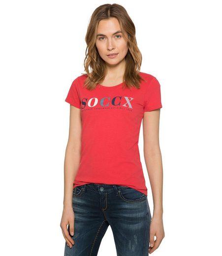SOCCX T-Shirt mit Logodruck