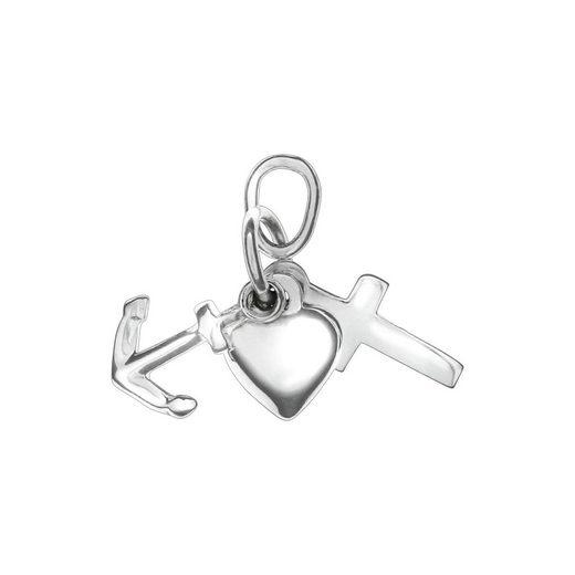 Vivance Anhänger »925/- Sterling Silber Herz, Kreuz, Anker«