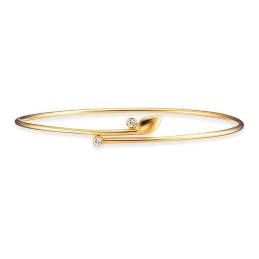 CAÏ Armreif »925/- Sterling Silber vergoldet Topas weiß«