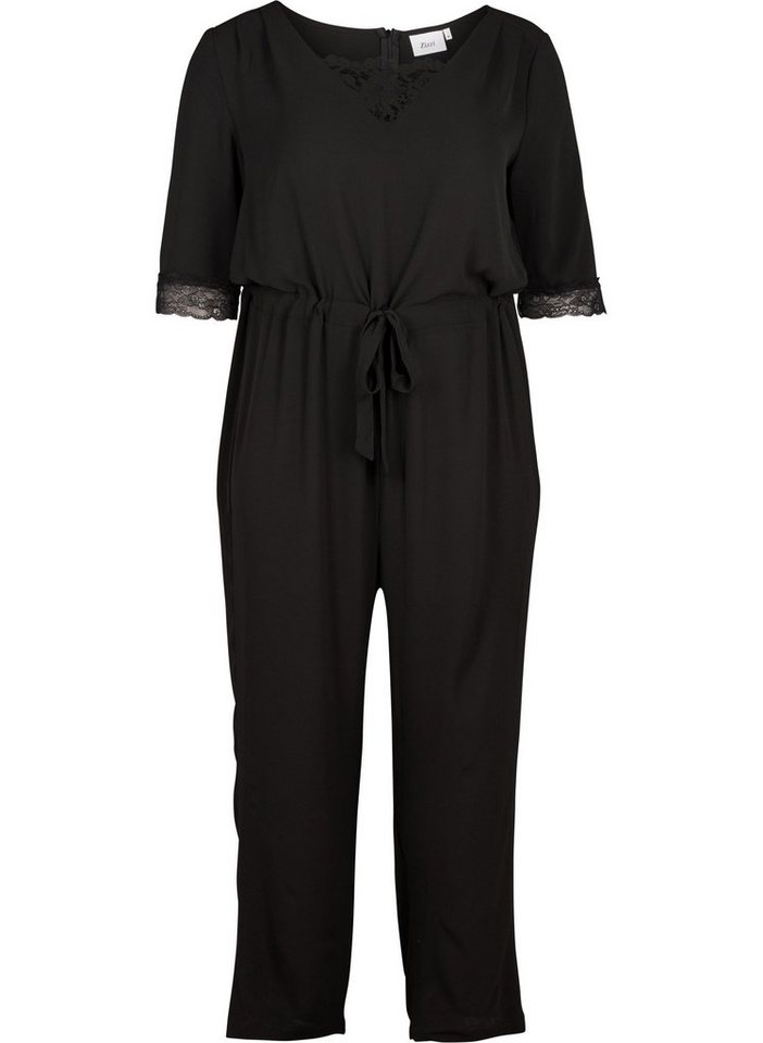 zizzi jumpsuit damen gro e gr en overall v ausschnitt elegant spitze online kaufen otto. Black Bedroom Furniture Sets. Home Design Ideas