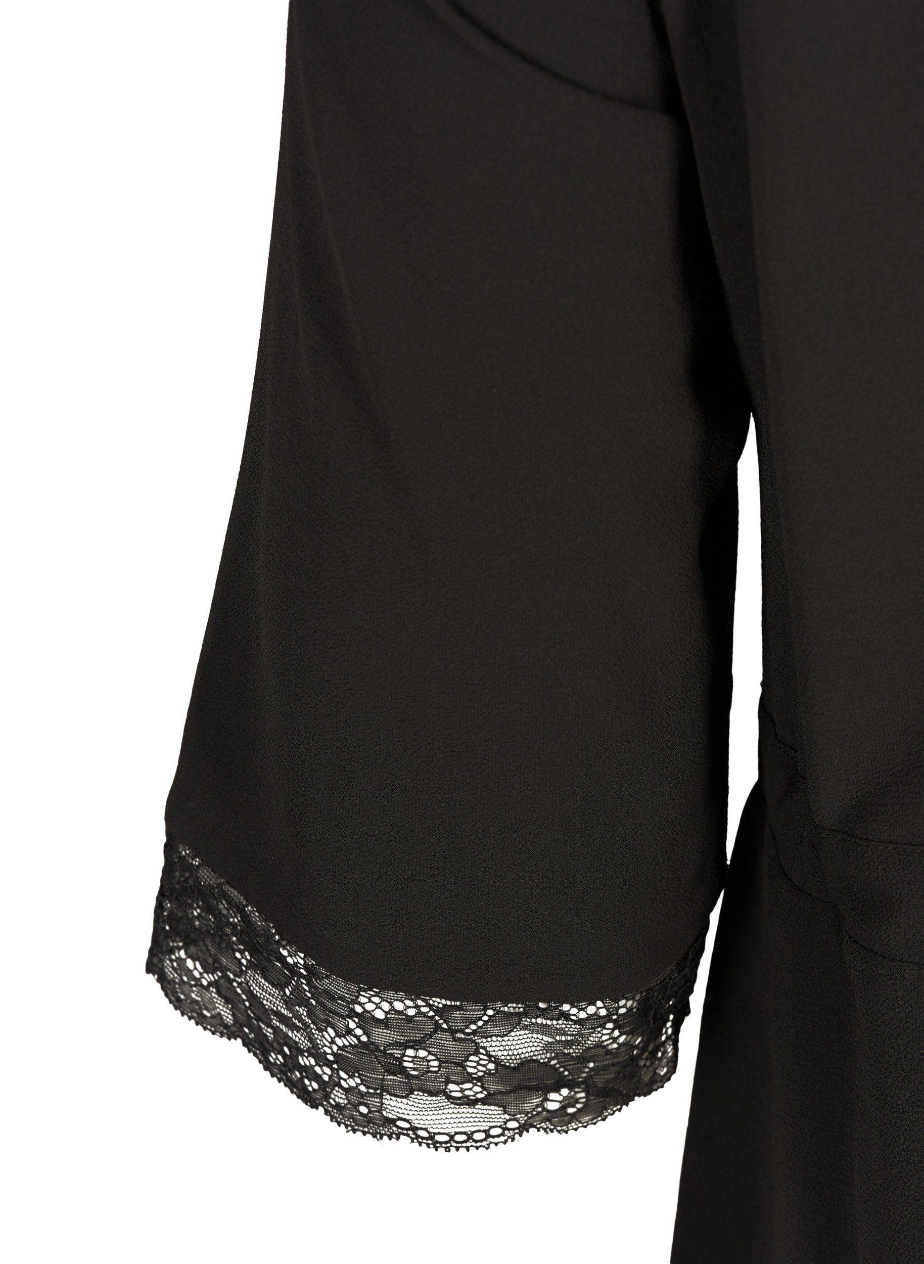 Zizzi Spitzenkleid Damen Große Größen Kleid Elegant Spitze 3/4 Arm Online Kaufen