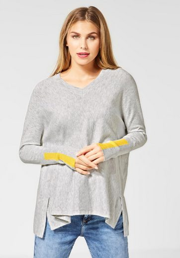 STREET ONE V-Ausschnitt-Pullover im Cape-Style