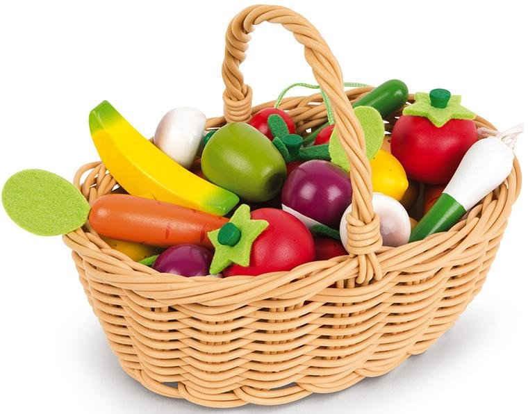 Janod Spiellebensmittel »Obst- und Gemüse Sortiment im Korb«
