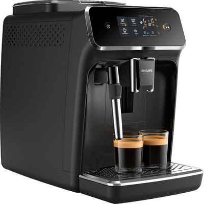 Philips Kaffeevollautomat 2200 Serie EP2221/40 Pannarello, klavierlackschwarz