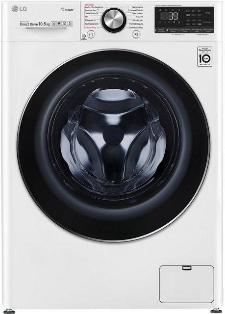 LG Waschmaschine Serie 9 F4 WV 910P2, 10,5 kg, 1400 U/Min, mit Steam+™ & TurboWash™ 360° | Bad > Waschmaschinen und Trockner > Frontlader | LG