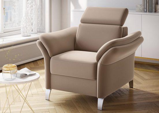sit&more Sessel, inklusive Kopfteilverstellung