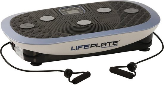 MAXXUS Vibrationsplatte »Lifeplate 4.0«, (Set, 3 tlg., mit Trainingsbändern, mit Trainingsplan, mit Unterlegmatte)