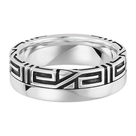 CAÏ Ring »925/- Sterling Silber rhodiniert Ornament«