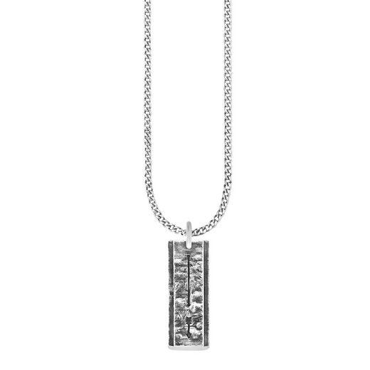 CAÏ Anhänger mit Kette »925/- Sterling Silber oxidiert Pfeil«
