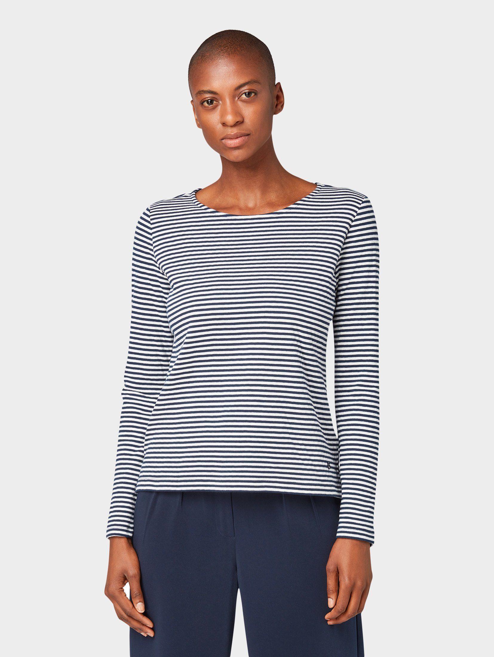 TOM TAILOR Sweater »Gestreifter Sweater«, Langärmlig mit Rundhalsausschnitt online kaufen | OTTO