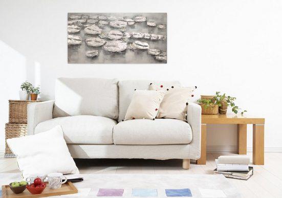 KUNSTLOFT Gemälde »Seerosenreich«  handgemaltes Bild auf Leinwand