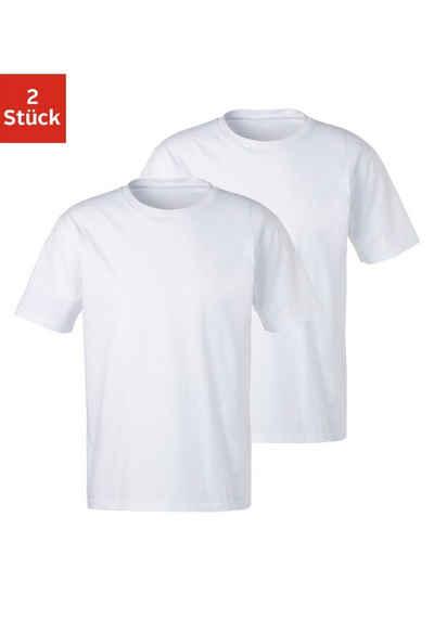 Bench. T-Shirt »Homewear« (2er-Pack) Basic in uni