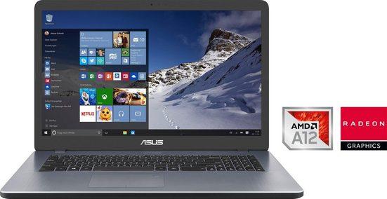Asus VivoBook 17 F705QA-BX140T 90NB0MN2-M02190 Notebook (43,94 cm/17,3 Zoll, AMD A12, Radeon, 256 GB SSD, inkl. Office-Anwendersoftware Microsoft 365 Single im Wert von 69 Euro)