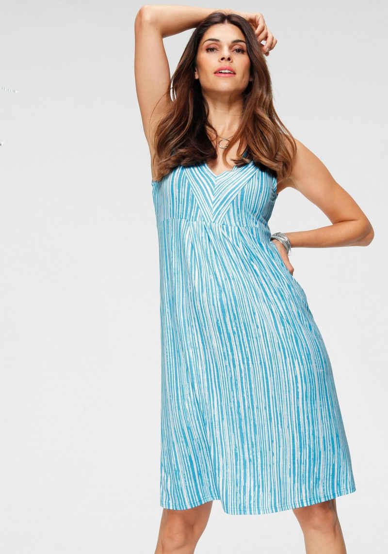 Boysen's Jerseykleid im figurschmeichendem Streifen-Design