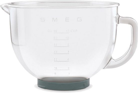 Smeg Küchenmaschinenschüssel »SMGB01 für Küchenmaschine SMF02, SMF03 und SMF13«, Glas, (1-tlg)