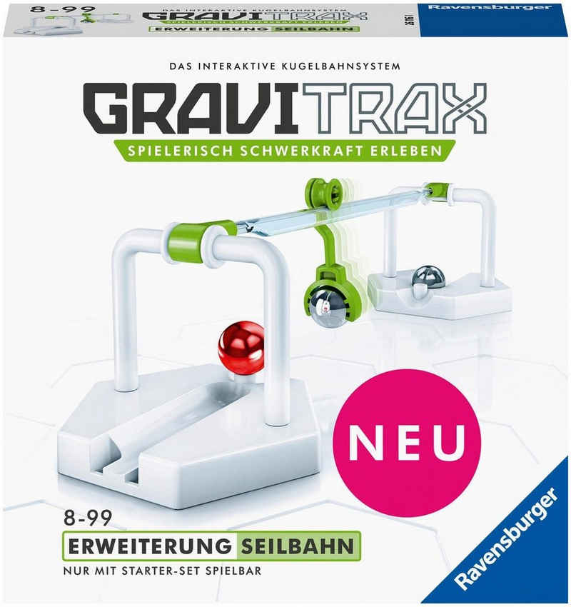 Ravensburger Kugelbahn-Bausatz »GraviTrax® Seilbahn«, Made in Europe, FSC® - schützt Wald - weltweit