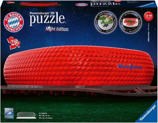 Ravensburger 3D-Puzzle »Allianz Arena Night Edition«, 216 Puzzleteile