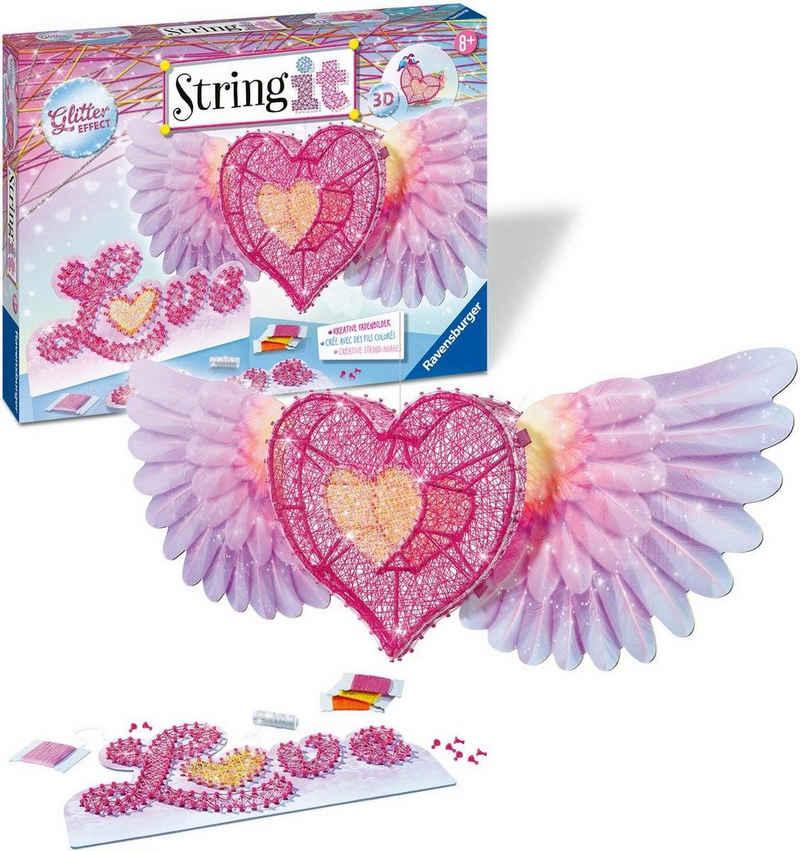 Ravensburger Kreativset »String it Maxi 3D-Heart«, Made in Europe; FSC® - schützt Wald - weltweit