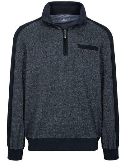 COMMANDER Sweatshirt »Zip-Troyer« mit Label-Patch am Arm