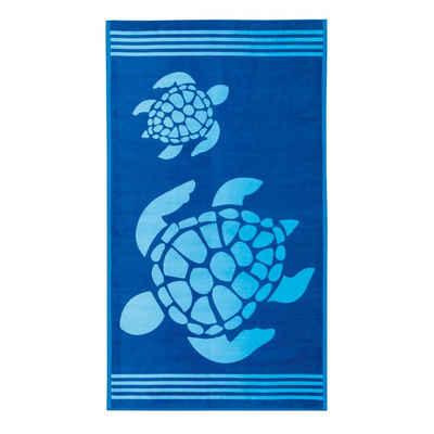 Delindo Lifestyle Strandtuch »Tropical« (1-St), mit jacquard-gewebtem Motiv Turtle