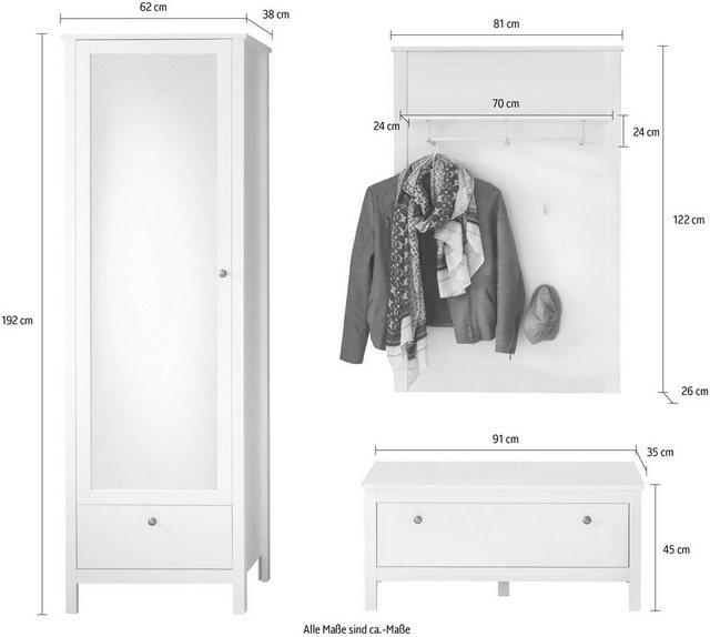 Garderoben Sets - trendteam Garderoben Set »Ole«, (3 tlg)  - Onlineshop OTTO