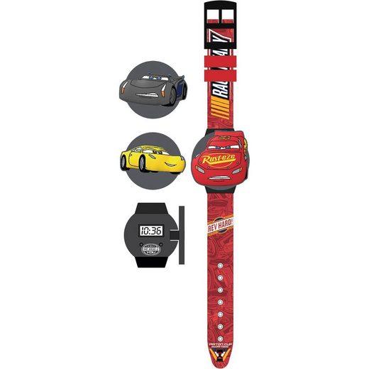 Joy Toy LCD Uhr mit 3 austauschbaren Motiven Cars 3