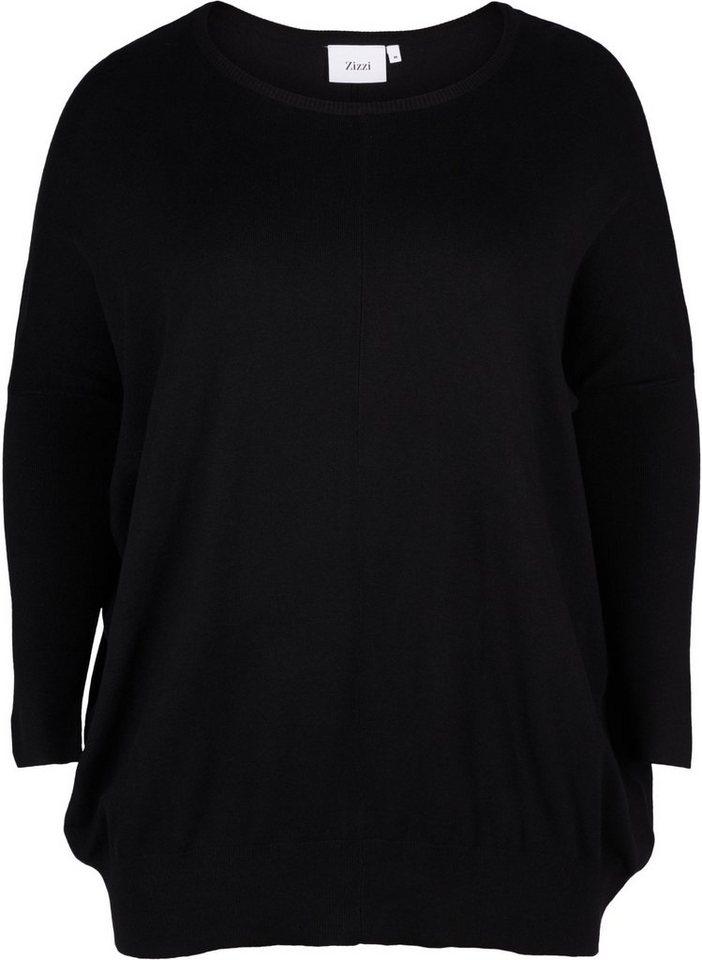 anerkannte Marken guter Service offizieller Preis Zizzi Strickpullover Damen Große Größen Strickpullover Langarm Strick Basic  Pullover online kaufen | OTTO
