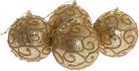 Weihnachtsbaumkugel »Spiralen« (8 Stück)