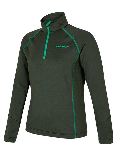 Ziener Fleeceshirt »JALDO« | Bekleidung > Sweatshirts & -jacken > Fleeceshirts | Grün | Ziener