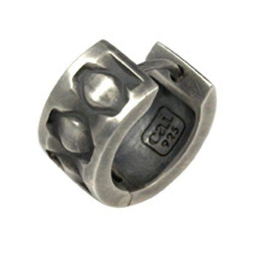 CAÏ Creole »925/-Sterling Silber rhodiniert matt oxidiert«