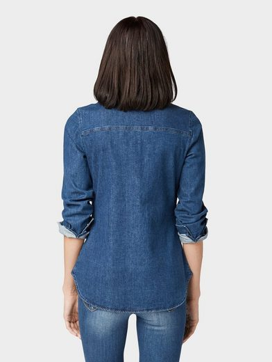 TOM TAILOR Denim Jeansbluse »Tailliertes Jeanshemd«