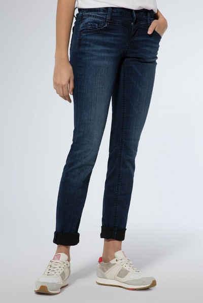 SOCCX Slim-fit-Jeans mit Vintage-Waschung