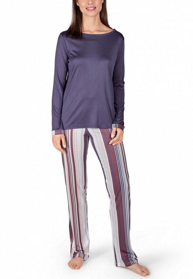 huber schlafanzug kuschelig weicher damen pyjama f r den. Black Bedroom Furniture Sets. Home Design Ideas