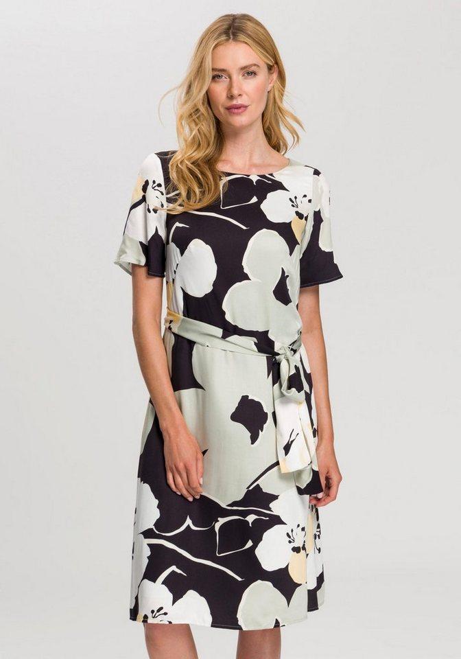 Esprit Collection Partykleid mit Bindeband auf Taillenhöhe | Bekleidung > Kleider > Partykleider | Grün | Esprit Collection
