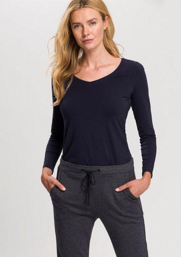 Esprit Langarmshirt mit modischem V-Ausschnitt