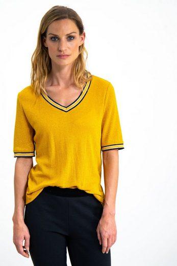 Garcia T-Shirt mit schlichtem Glittereffekt im Stoff
