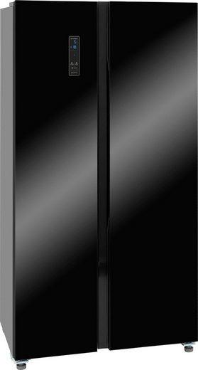exquisit Side-by-Side SBS 150-4 A+ SW, 177 cm hoch, 90,5 cm breit