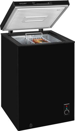 exquisit Gefriertruhe GT 111-5 A+ Schwarz, 56,8 cm breit, 98 l