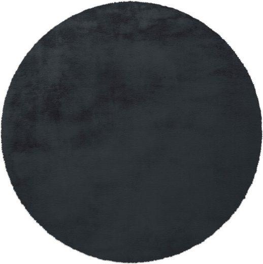 Hochflor-Teppich »Vogesen 212«, calo-deluxe, rund, Höhe 45 mm, Kunstfell
