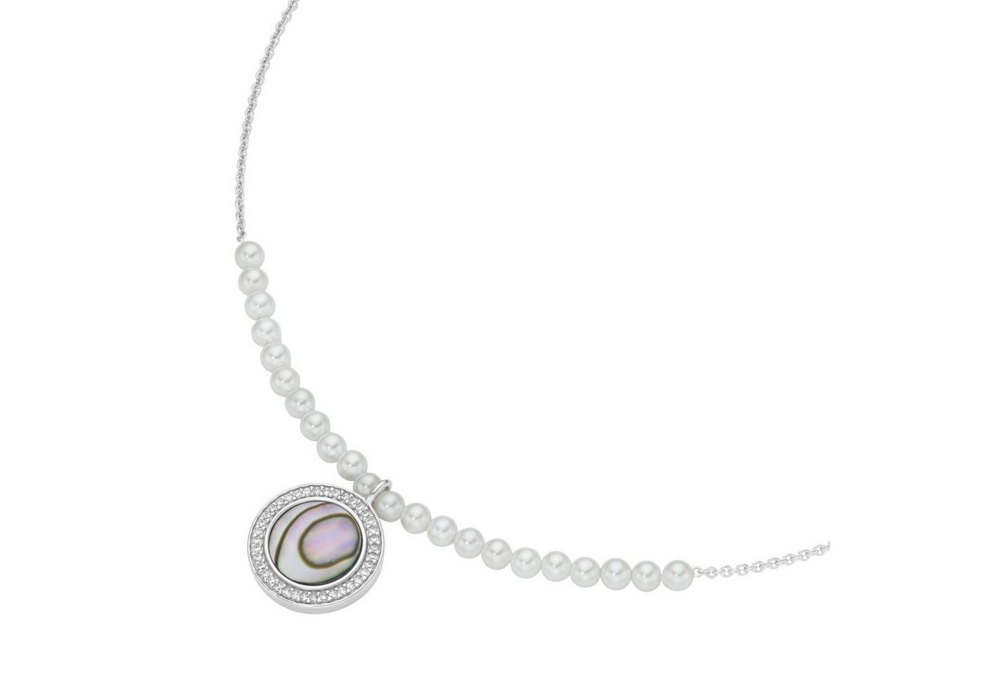 GIORGIO MARTELLO MILANO Perlenkette »weiße Muschelkern-Perlen und rundes Mittelteil« | Schmuck > Halsketten > Perlenketten | Bunt | GIORGIO MARTELLO MILANO