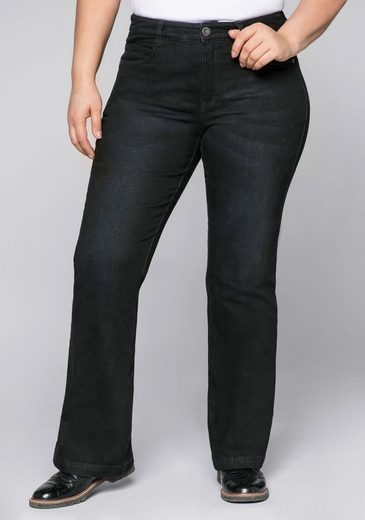 Sheego Stretch-Jeans mit opitsch streckender Beinform