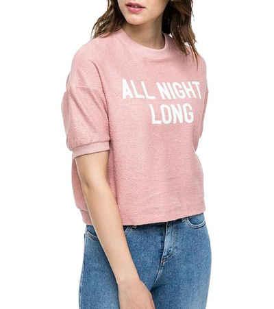 Lee® Sweater »Lee All Night Long Sweater kurzärmliges Damen Sweat-Shirt Pullover Rosa«