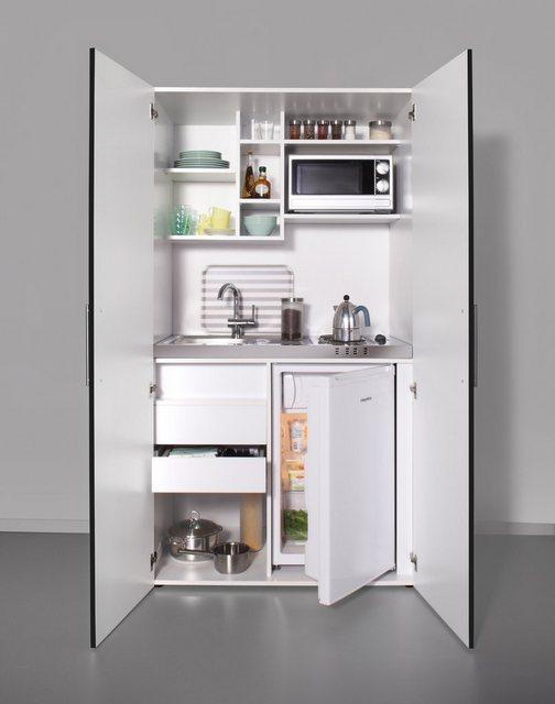 Schrankküche mit Kochplatten, Kühlschrank und Mikrowelle | Küche und Esszimmer > Küchenelektrogeräte > Mikrowellen | OTTO