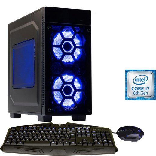 Hyrican Striker-X 6409 blue Gaming-PC (Intel Core i7, RTX 2070 SUPER, 16 GB RAM, 1000 GB HDD, 480 GB SSD, Luftkühlung)