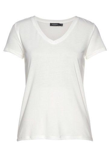 SOAKED IN LUXURY V-Shirt in weicher, leicht gewaschener Ware