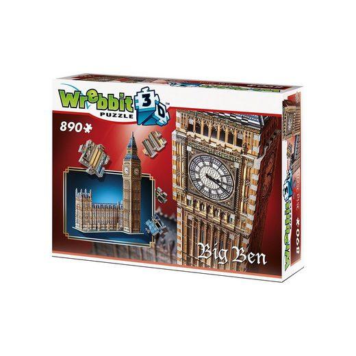 Wrebbit 3D Puzzle 890 Teile Big Ben & House of Parliament